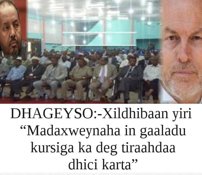Dhageyso Xildhibaan Yiri Madaxweynaha In Gaaladu Kursiga Ka Deg